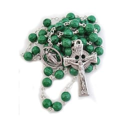 Deluxe Round Shamrock Bead Rosary