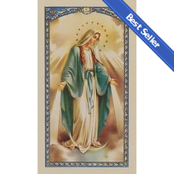 Devotions of the Blessed Virgin Mary Act of Consecration to Mary - Prayer Card