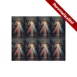 The Divine Mercy Personalized Prayer Card (Priced Per Card)