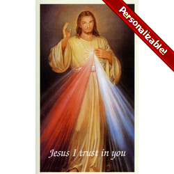Divine Mercy Personalized Prayer Card (Priced Per Card)