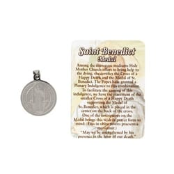 Enameled St. Benedict Medal w/Pouch
