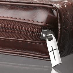Lux Leather Amazing Grace Bible Cover, Medium