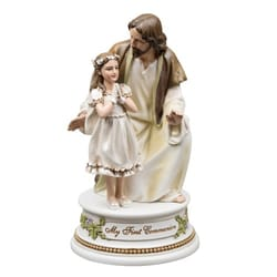 First Communion - Jesus w/Girl Musical Figure