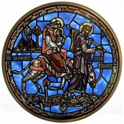 Flight into Egypt Stained Glass Roundel