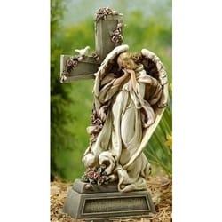 Merveilleux Garden Angel With Cross
