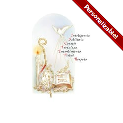 Gifts of the Holy Spirit Personalized Prayer Card - Spanish