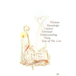 Gifts of the Spirit Personalized Confirmation Prayer Cards