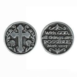 With God All Things Are Possible Pocket Token