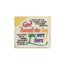 God Danced the Day You Were Born - Plaque