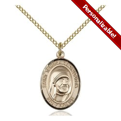 Gold Filled Blessed Teresa of Calcutta Pendant w/ Chain