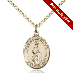 Gold Filled Our Lady of Fatima Pendant w/ Chain