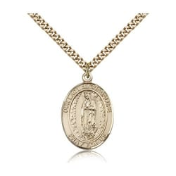 Gold Filled Our Lady of Guadalupe Pendant w/ chain