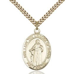 Gold Filled Our Lady Of Knots Pendant w/ chain