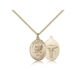 Gold Filled St. Agatha - Nurse Pendant w/ Chain