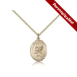Gold Filled St. Agatha Pendant w/ Chain