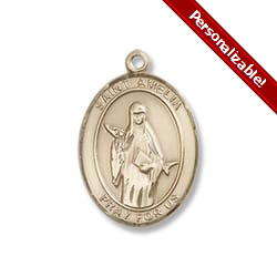 Gold Filled St. Amelia Pendant w/ Chain
