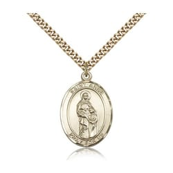 Gold Filled St. Anne Pendant w/ chain