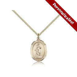 Gold Filled St. Barbara Pendant w/ Chain