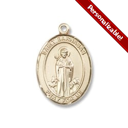 Gold Filled St. Barnabas Pendant w/ Chain