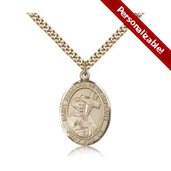 Gold Filled St. Bernard of Clairvaux Pendant w/ chain