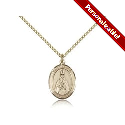 Gold Filled St. Blaise Pendant w/ Chain
