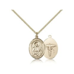 Gold Filled St. Camillus of Lellis / Nurse Pendant  w/ Chain