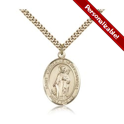Gold Filled St. Catherine of Alexandria Pendant w/ chain