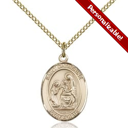 Gold Filled St. Catherine of Siena Pendant w/ Chain