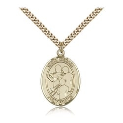 Gold Filled St. Cecilia / Marching Band Pendant w/ chain