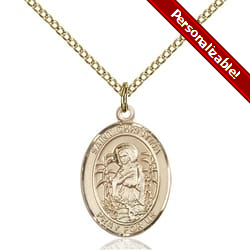 Gold Filled St. Christina the Astonishing Pendant w/ Chain
