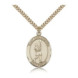 Gold Filled St. Christopher Medal w/ chain - Lacrosse