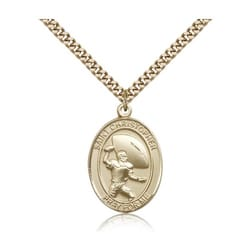 Gold Filled St. ChristpherMedal w/ chain - Football