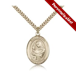 Gold Filled St. Clare of Assisi Pendant w/ chain