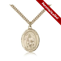 Gold Filled St. Deborah Pendant w/ chain