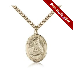 Gold Filled St. Frances Cabrini Pendant w/ chain