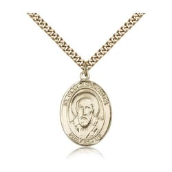 Gold Filled St. Francis de Sales Pendant w/ chain