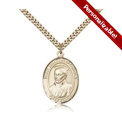 Gold Filled St. Ignatius of Loyola Pendant w/ chain