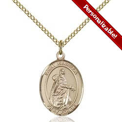 Gold Filled St. Isabella of Portugal Pendant w/ Chain