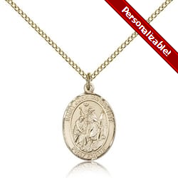 Gold Filled St. John the Baptist Pendant w/ Chain