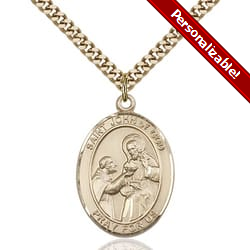 Gold Filled St. John of God Pendant w/ chain