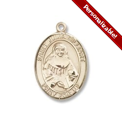 Gold Filled St. Julia Billiart Pendant w/ Chain