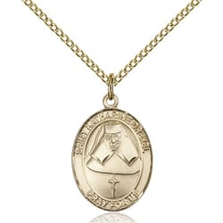 Gold Filled St. Katharine Drexel Pendant w/ Chain