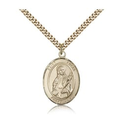 Gold Filled St. Lucia of Syracuse Pendant w/ chain