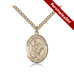 Gold Filled St. Martin of Tours Pendant w/ chain