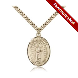 Gold Filled St. Matthias the Apostle Pendant w/ chain