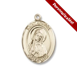 Gold Filled St. Monica Pendant w/ Chain