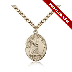 Gold Filled St. Pio of Pietrelcina Pendant w/ chain