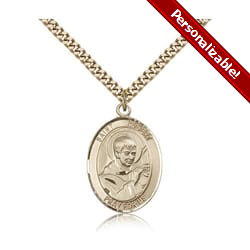 Gold Filled St. Robert Bellarmine Pendant w/ chain