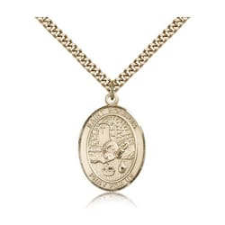 Gold Filled St. Rosalia Pendant w/ chain