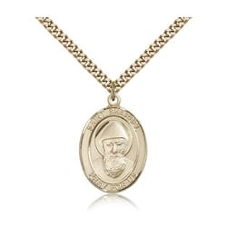 Gold Filled St. Sharbel Pendant w/ chain